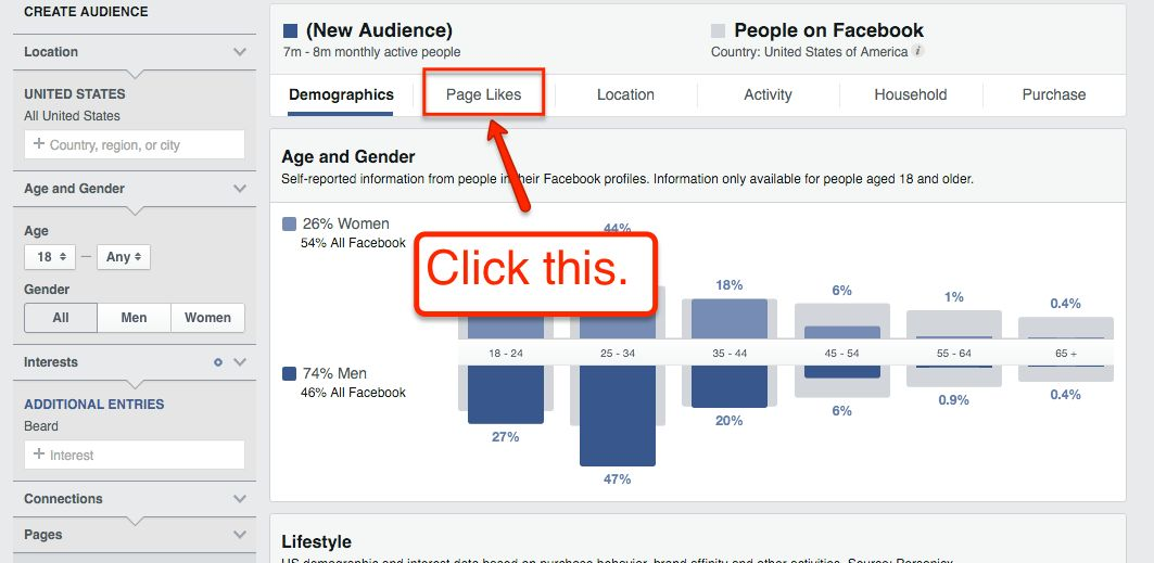 Page Likes Audience Insights