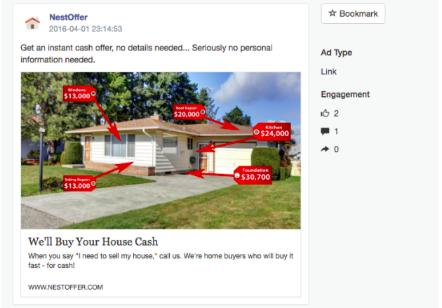 A/B tested Facebook Ad